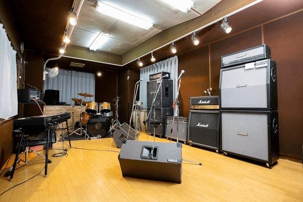 ドラゴンヘッド音楽スタジオの中の様子