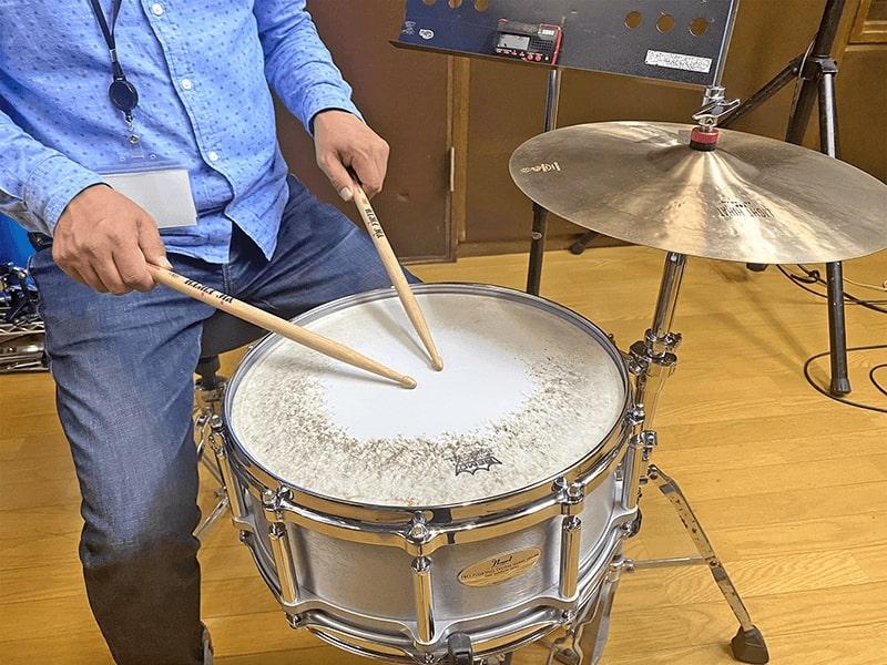 基礎を重視したドラムレッスン